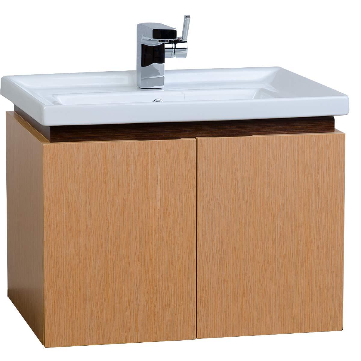 23 5 wall mount bathroom vanity set natural red oak finish vm v14177 ro. Black Bedroom Furniture Sets. Home Design Ideas