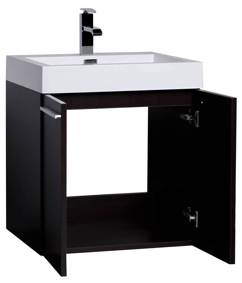 22.75 Inch Bathroom Vanity Set Espresso Finish TN T580 1 WG