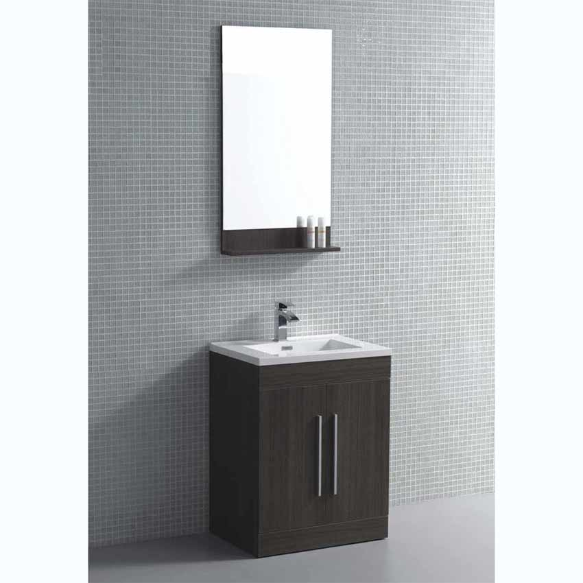 24 bathroom vanity set grey oak tn tm600 go on for Bathroom 24 inch vanity