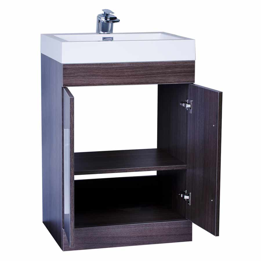 24 bathroom vanity set grey oak tn tm600 go on for Bath and vanity set
