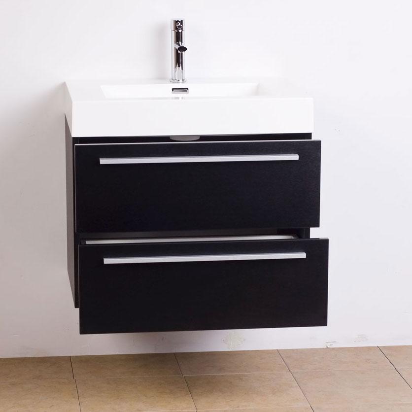 Black Bathroom Vanity Set: Single Bathroom Vanity Set In Black TN-T580-BK On