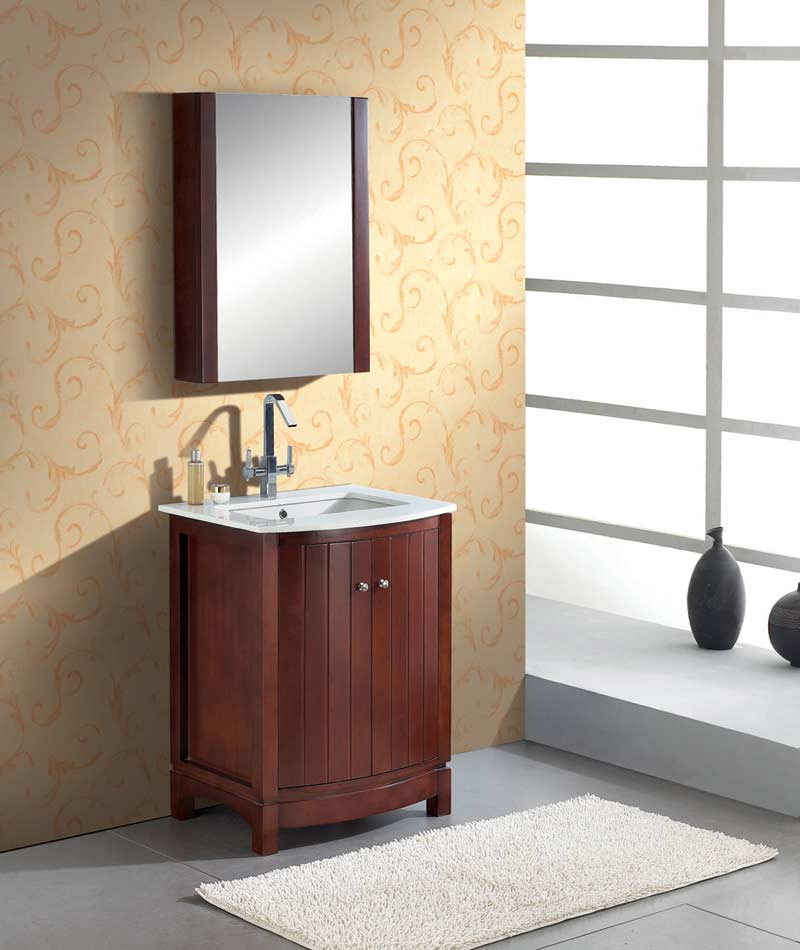 27 Inch Bathroom Vanities: Bathroom Vanity Solid Wood Light Finish AG-M026