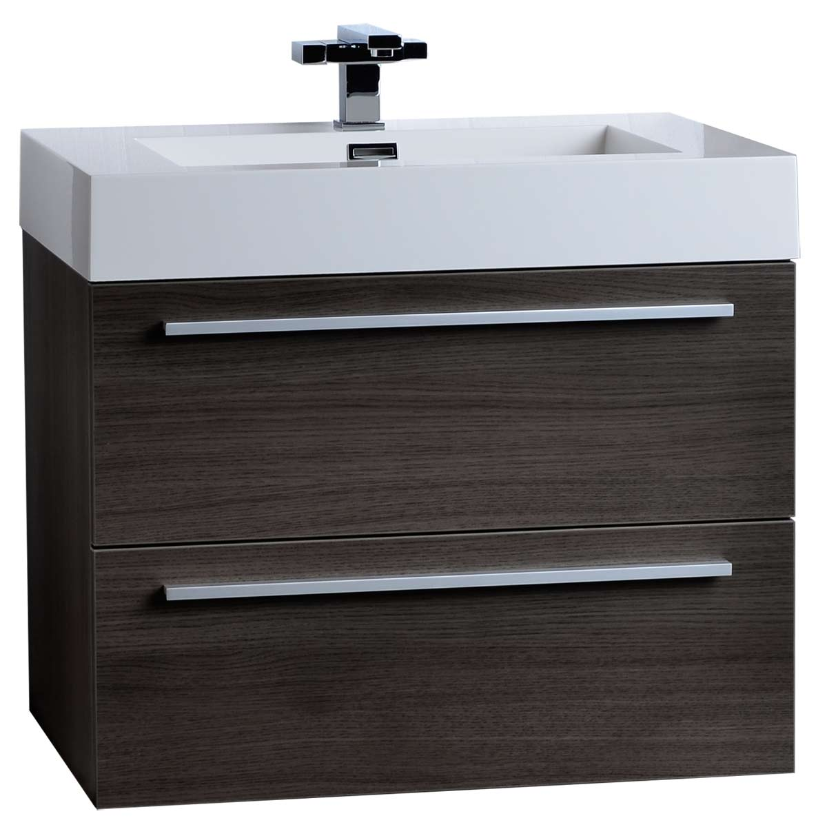 "27 Inch Bathroom Vanities: 26.75"" Single Bathroom Vanity Set In Gre Oak TN-T690-GO On"
