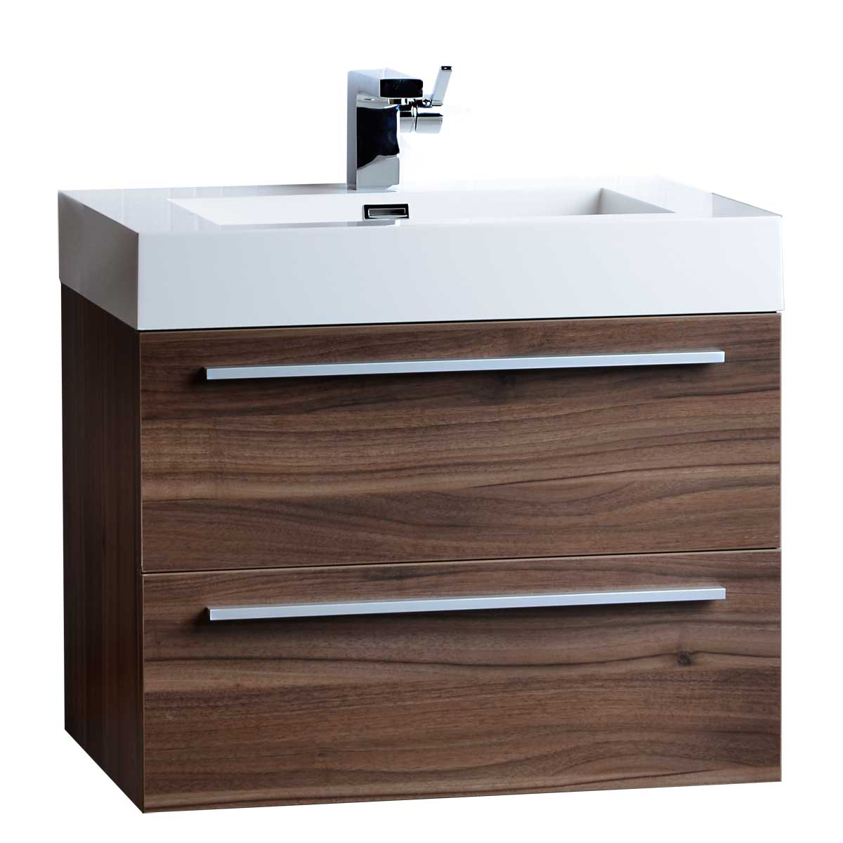 Single bathroom vanity set in walnut tn t690 wn on for Restroom vanity