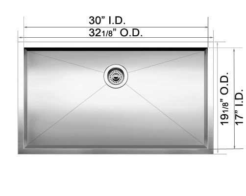 Grades Of Stainless Steel Sinks : ... Commercial Grade Stainless Steel ZERO Radius Kitchen Sink SN-HBS3219