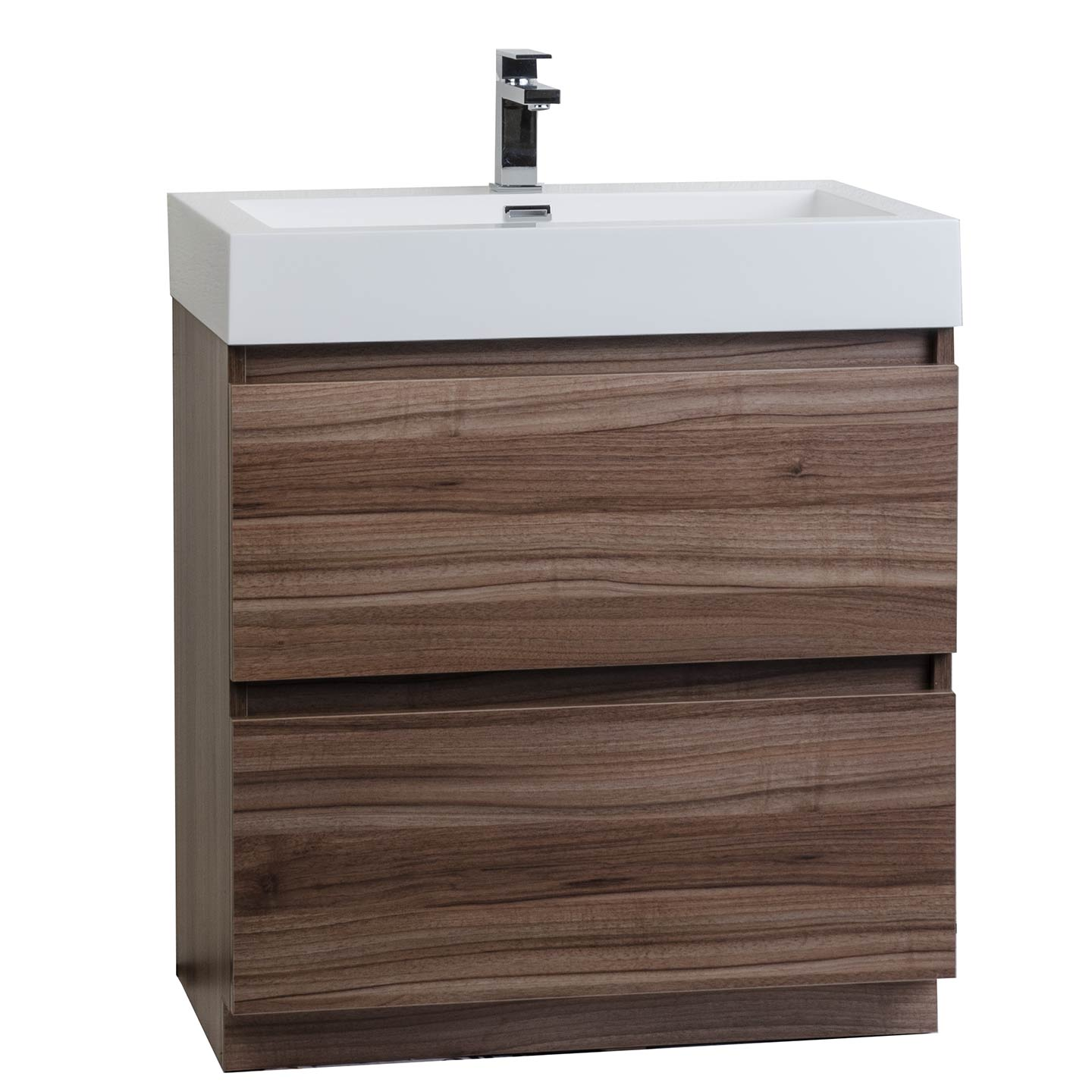 29 5 Contemporary Bathroom Vanity Set In Walnut Optional