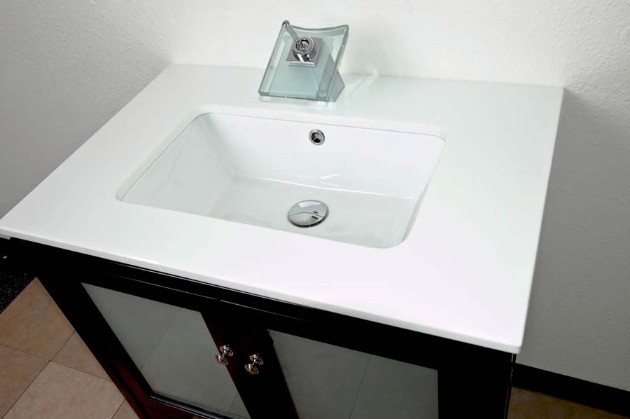 30 bathroom vanity espresso solid wood undermount sink conceptbaths