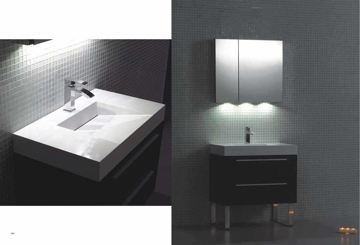 Contemporary bathroom vanity with dual drawer free shipping tn tu800 wg for Contemporary bathroom sinks and vanities