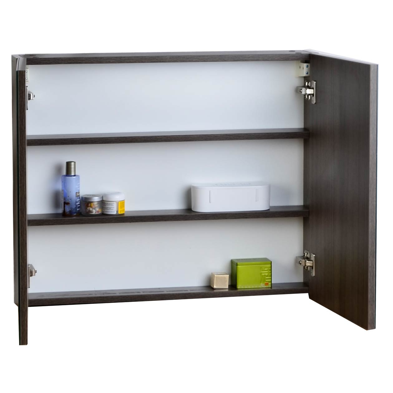 Buy medicine cabinet w mirror grey oak 31 5 in w x 26 in for Medicine cabinets