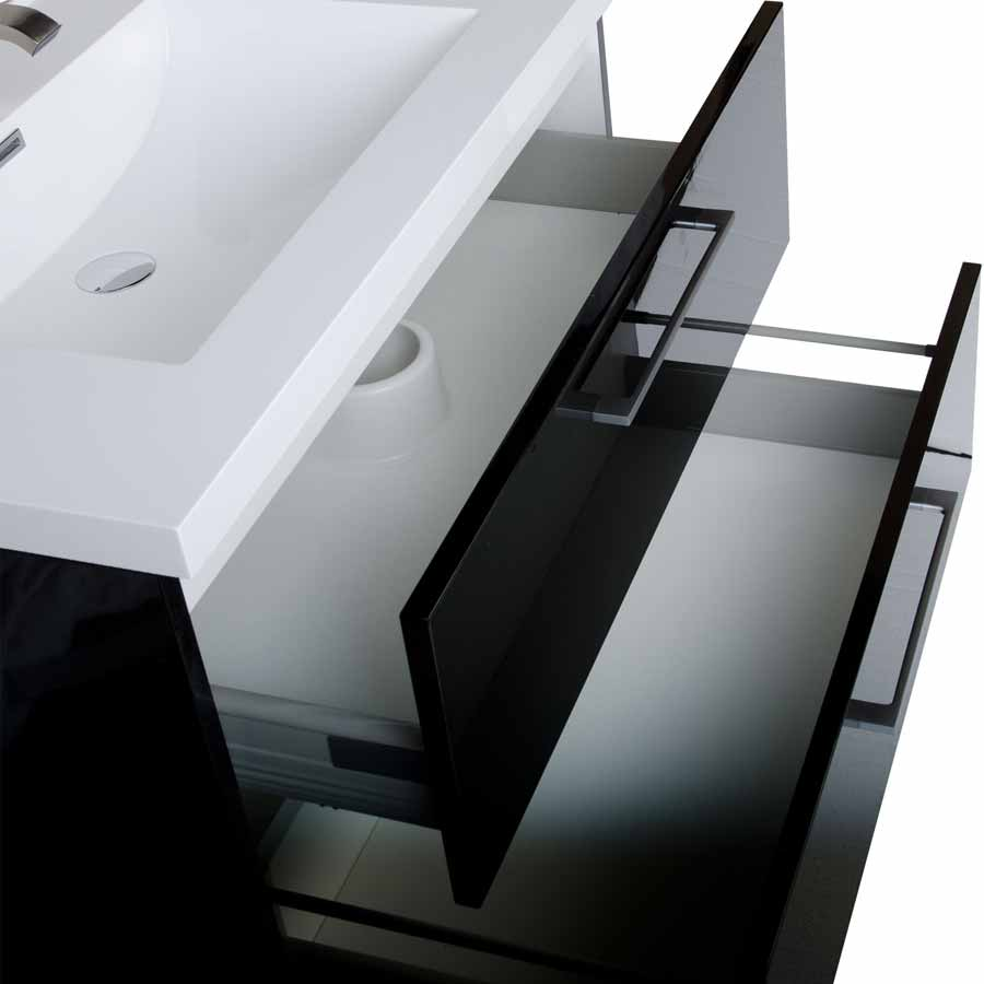 335 wall mount contemporary bathroom vanity set black tn ta860 hgb - Bathroom Cabinets Black Gloss