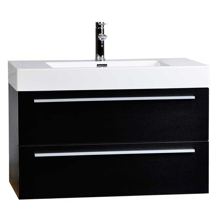 35 5 wall mount contemporary bathroom vanity black tn m900 bk