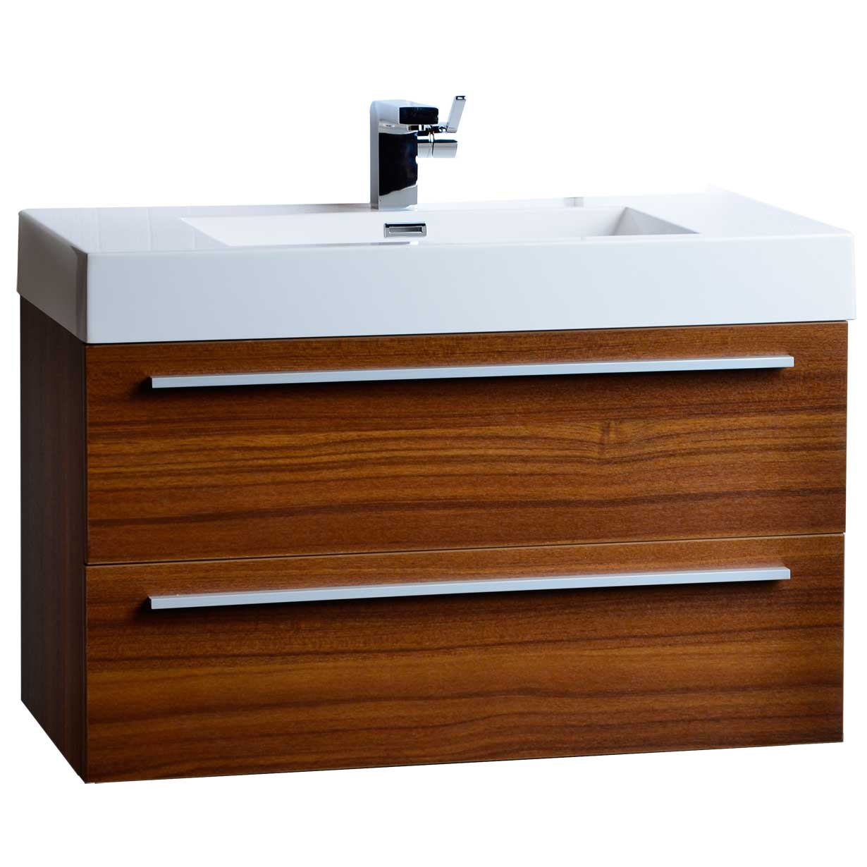35 5 Wall Mount Contemporary Bathroom Vanity Teak Tn M900