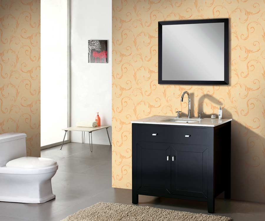 "Bathroom Vanities Set buy 35"" espresso solid wood bathroom vanity ag-x015 on"