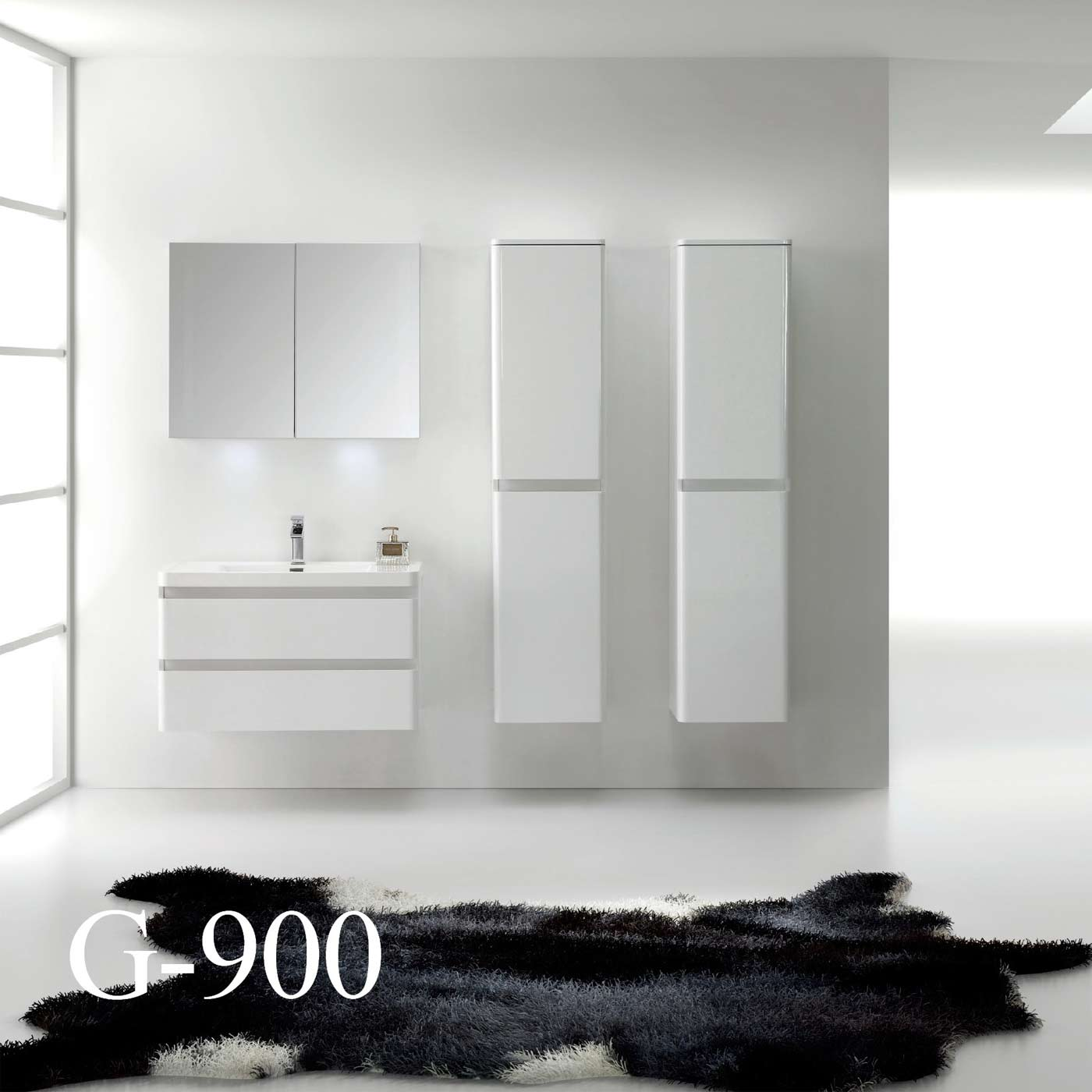 "Contemporary Bathroom Vanities 36 Inch amaral 35.5"" wall-mount bathroom vanity high glossy white tn-g900"