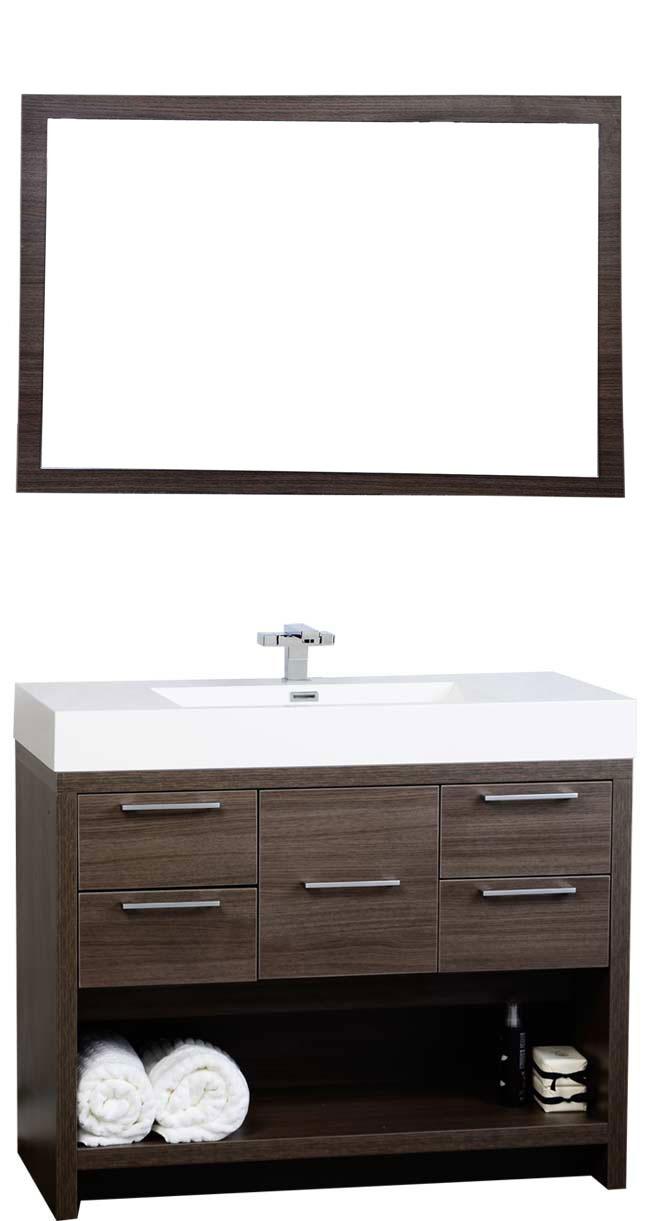 "Bathroom Vanities To Go 40"" modern bathroom vanity set with grey oak finish tn-l1000-go"
