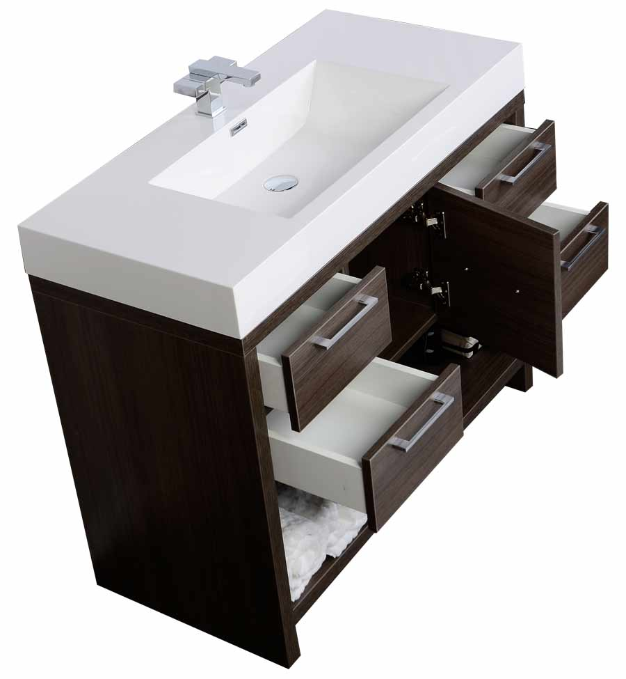 40  Modern Bathroom Vanity Set with Grey Oak Finish TN L1000 WN GO