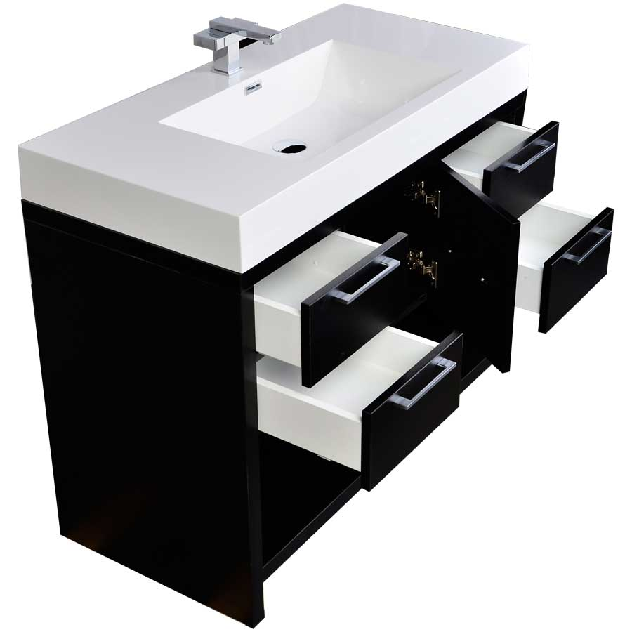39 modern bathroom vanity set in black tn l1000 bk