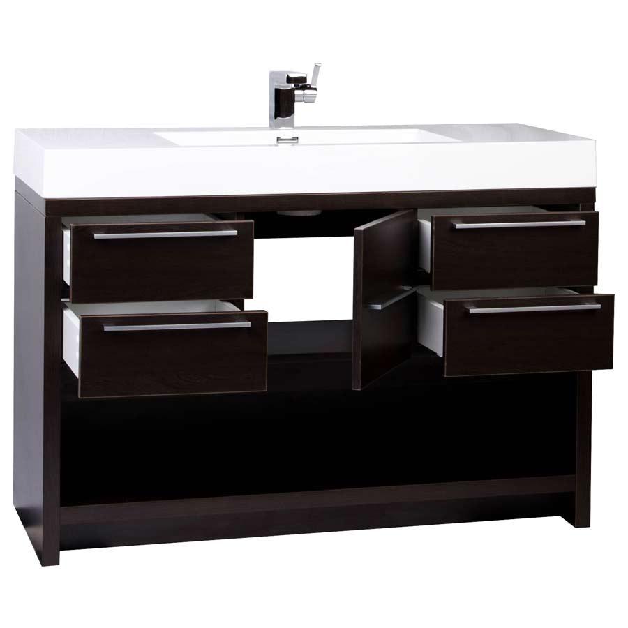 modern bathroom vanity set espresso finish tnlwg  -  modern bathroom vanity set with espresso finish tnlwg