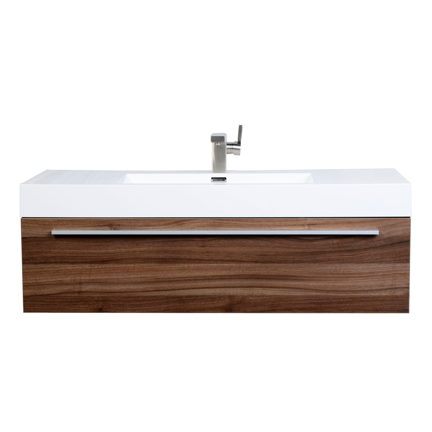 Contemporary Bathroom Vanity In Walnut Tn T1200 Wn