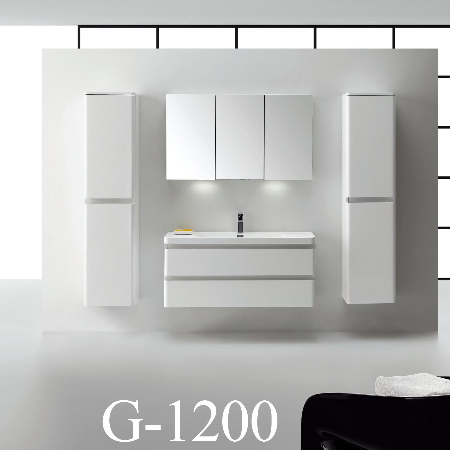 wall mounted bathroom cabinets. Amaral 47 25  Wall Mount Bathroom Vanity High Glossy White TN G1200 HGW