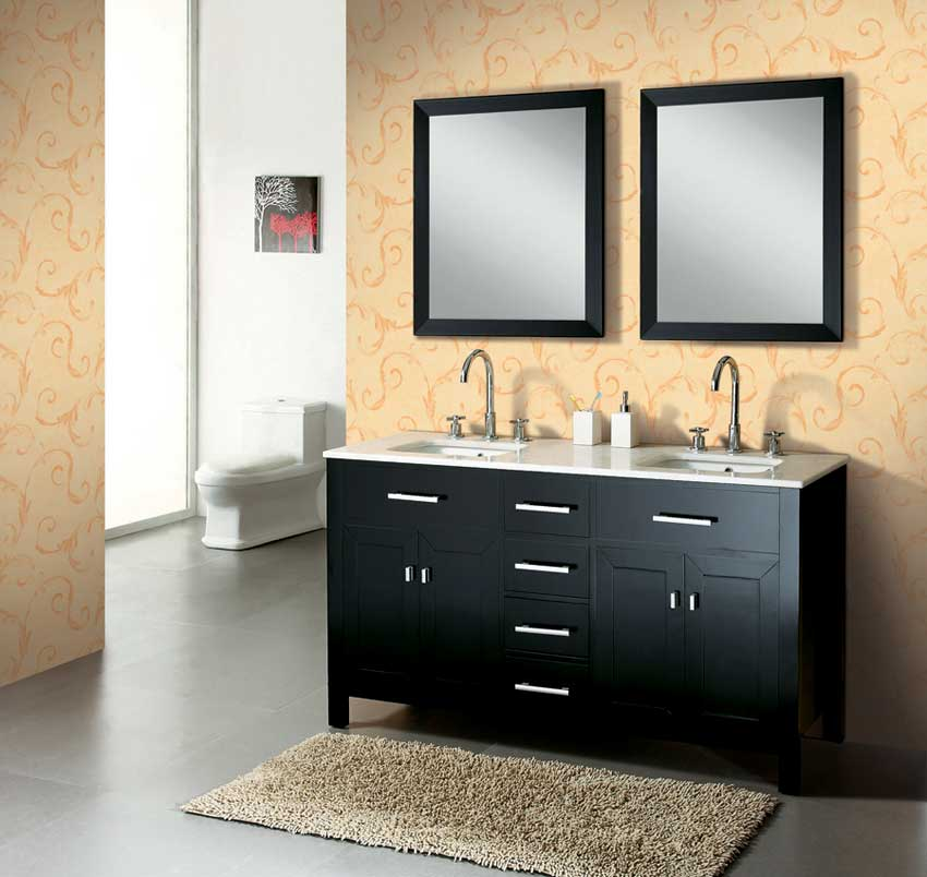 Simple Youre Currently Shopping Bathroom Vanities Filtered By Base Finish Dark Wood And Popular Widths 60 Inches That We Have For Sale Online At AllModern If Youre Interested In Bathroom Vanities Options Other Than &quotBase Finish Dark