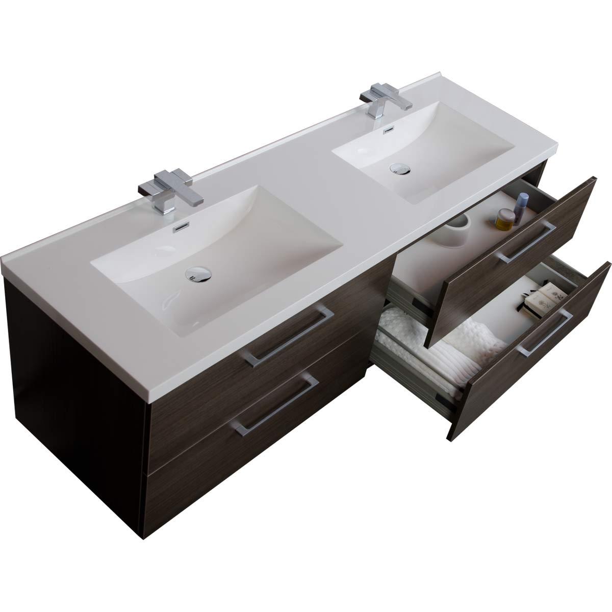 67 Quot Modern Double Vanity Set Grey Oak Tn A1710 Go