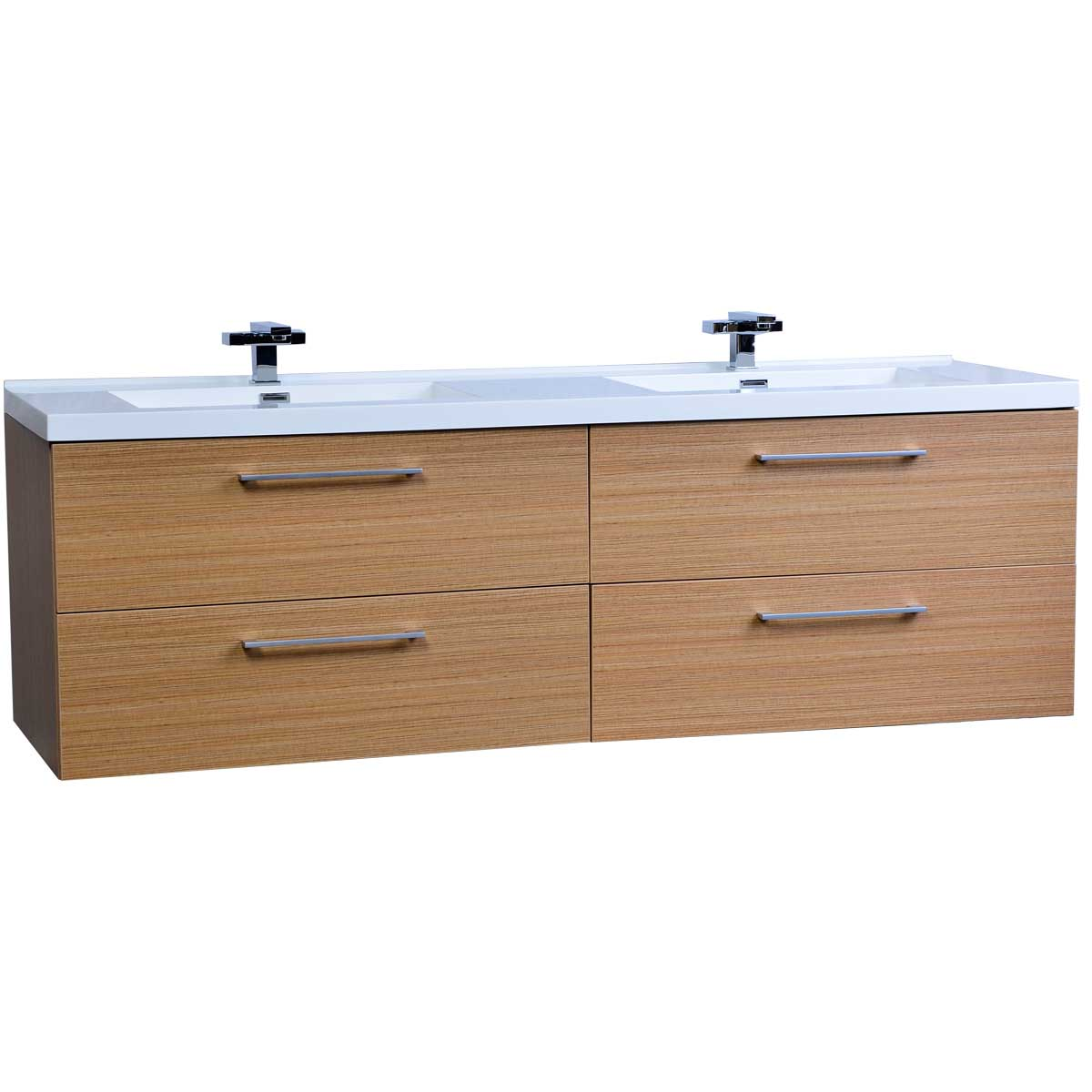 buy 67 modern double vanity set light teak tn a1710 pt
