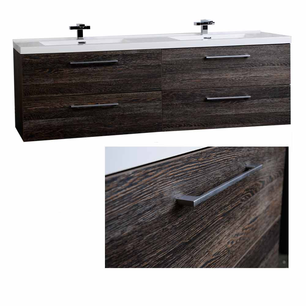 67 modern double vanity set dark oak tn a1710 do