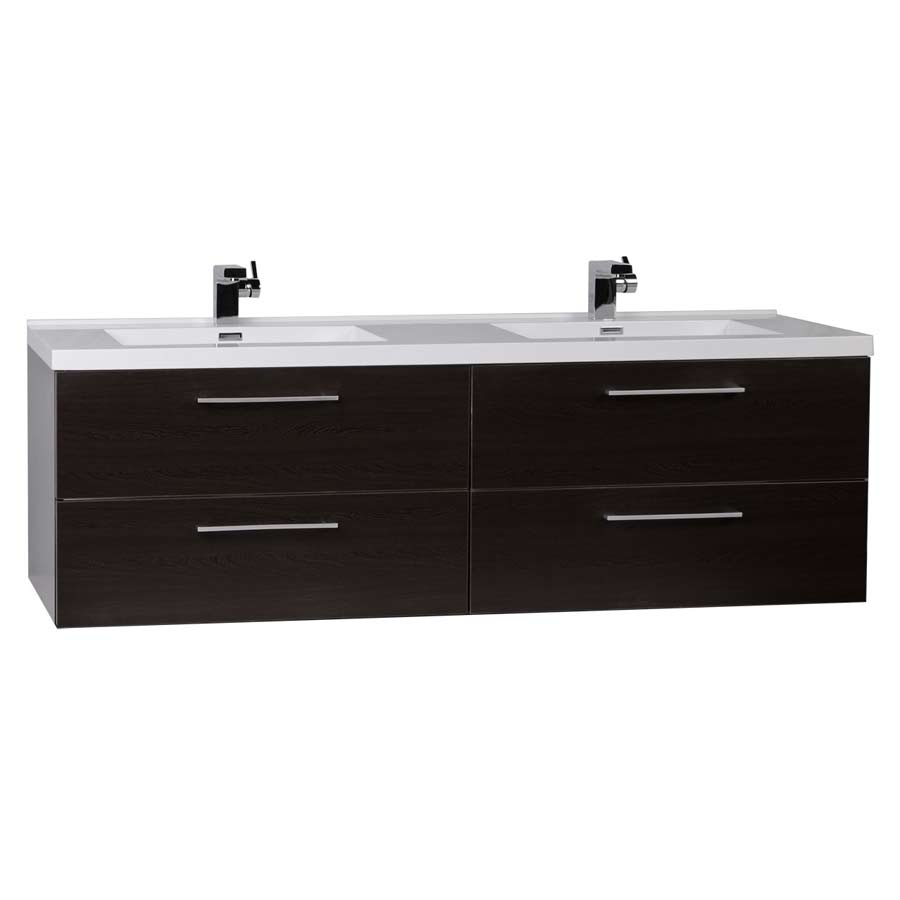 67 modern wall mount bathroom vanity double sink tn a1710