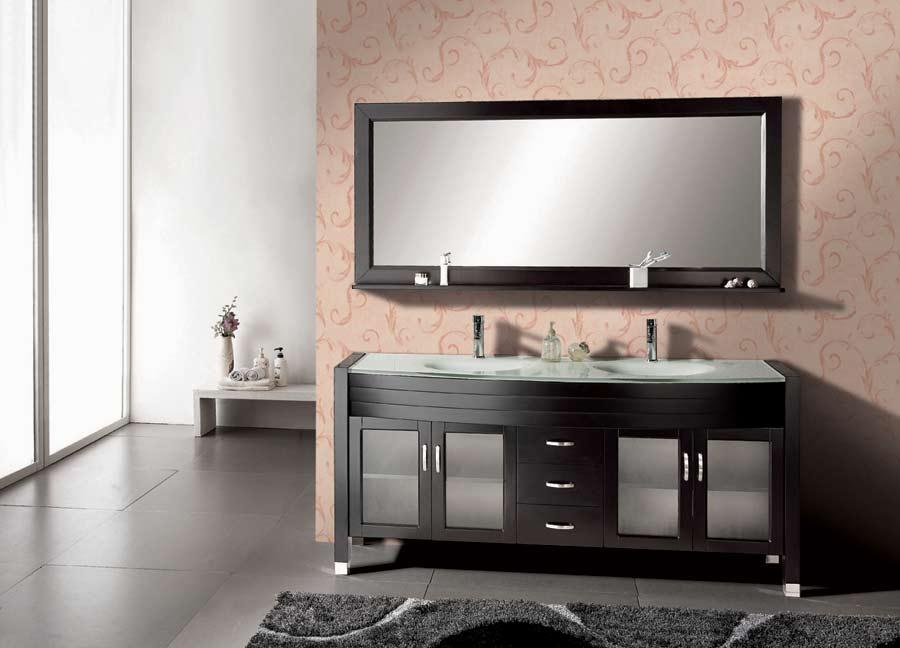 71 Solid Wood Bathroom Vanity With Mirror Dark Espresso Ag X010