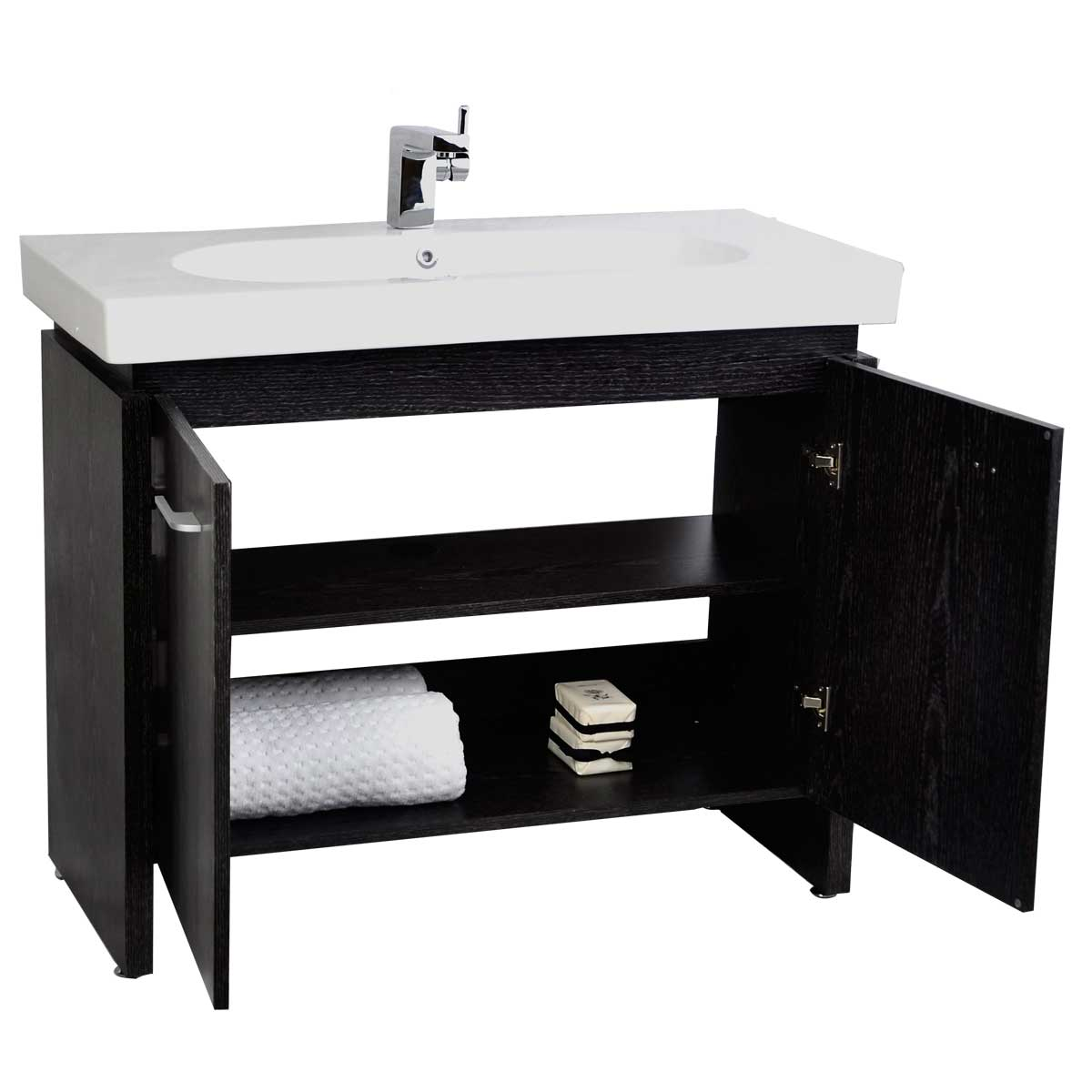 Single Bathroom Vanity With Porcelain Sink San Francisco