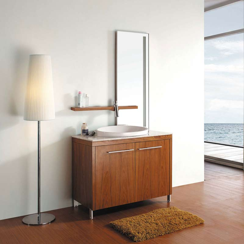 40 modern single bathroom vanity set thai teak vm for Modern contemporary bathroom vanities