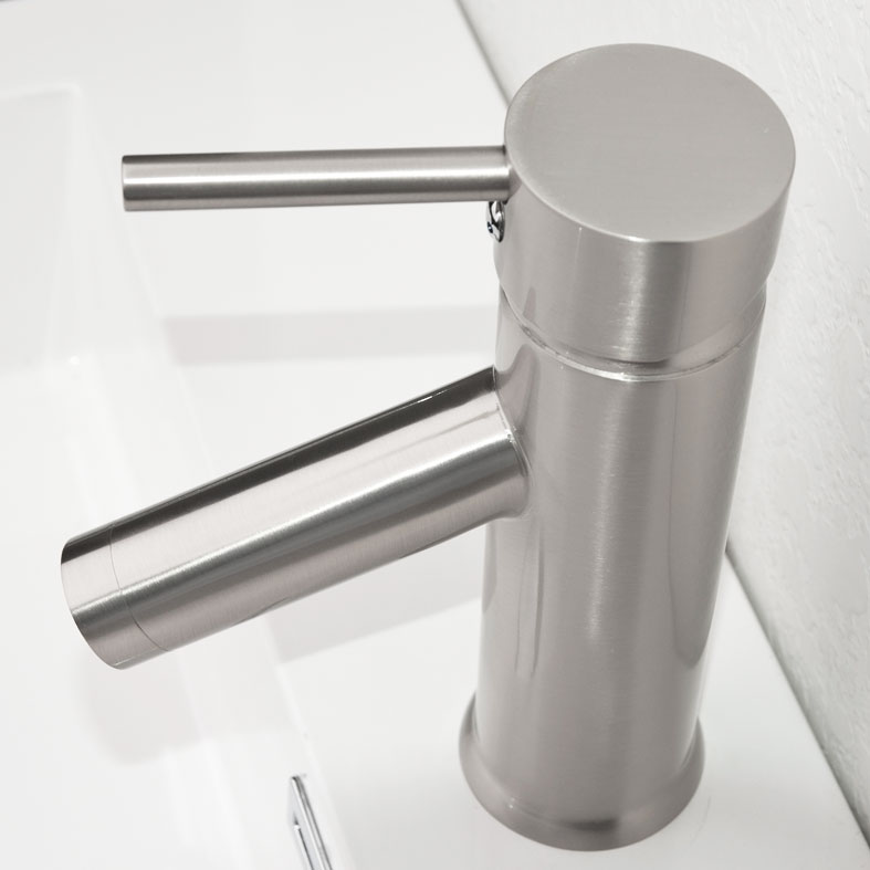 CBI Kadaya Single Hole Bathroom Faucet In Brushed Nickel M11016 531B.