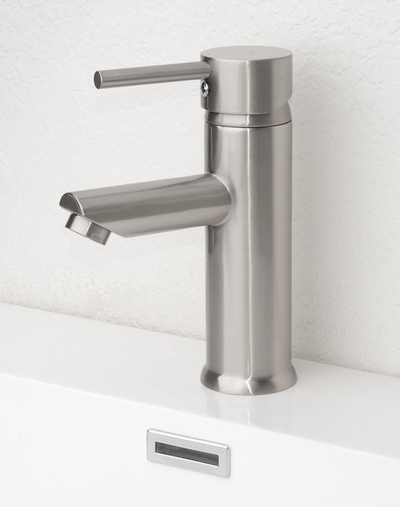 Bathroom Faucet Single Hole. Cbi Leike Single Hole Bathroom Faucet In Brushed Nickel M71014 503b
