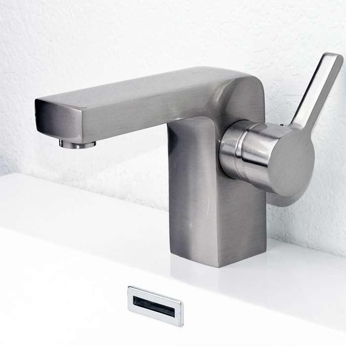 CBI Brette Single Hole Bathroom Faucet In Brushed Nickel M11048 083B