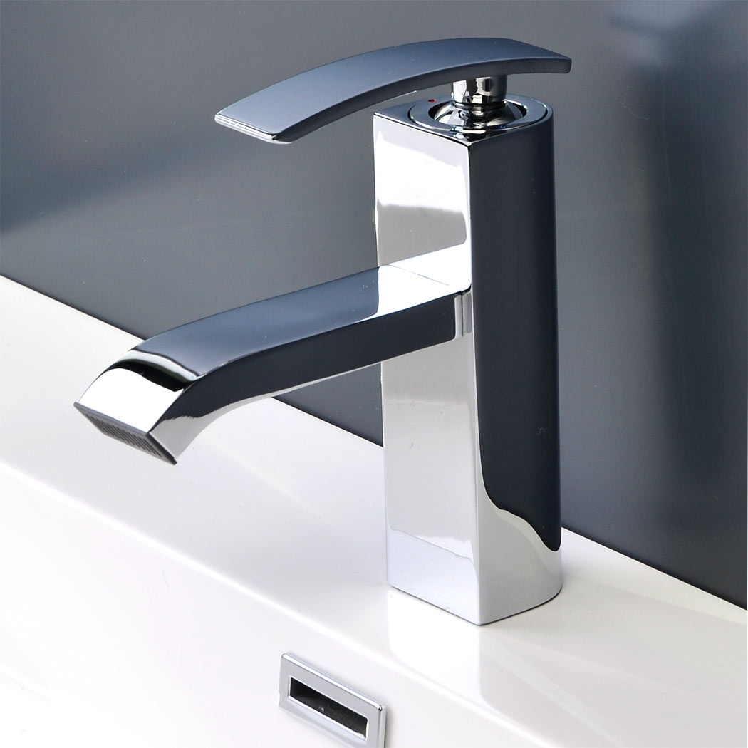 CBI Ouli Single Hole Bathroom Faucet in Chrome M11001 081C. Bathroom Faucet Chrome Ouli M11001 081C   Conceptbaths com