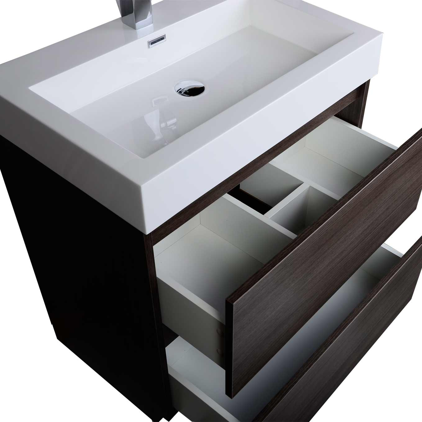 29 5 Contemporary Bathroom Vanity Black Sable TN LY750 BS Conceptbath