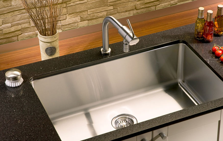 Stainless Steel Corner Kitchen Sink : Kitchen Sink Small Radius Single Bowl Undermount SN-RS3018 ...