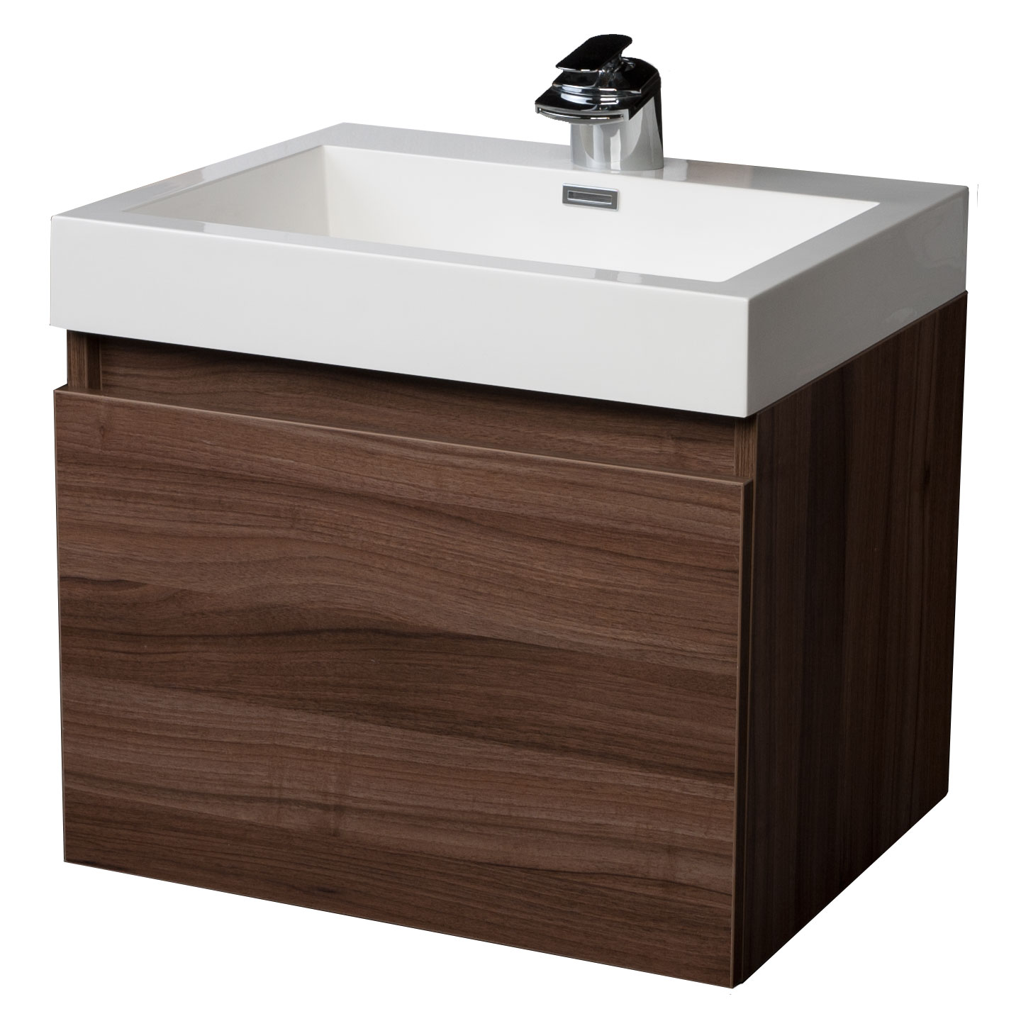 Modern Single Bathroom Vanity With Drawer Walnut Tn A600 Wn