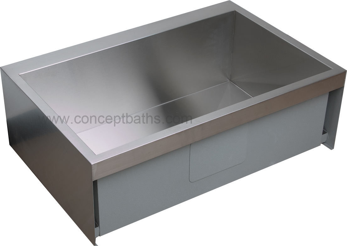 "Kitchen Sink 30"" Stainless Steel Farmhouse SN HFS3021 on Cocneptbaths"