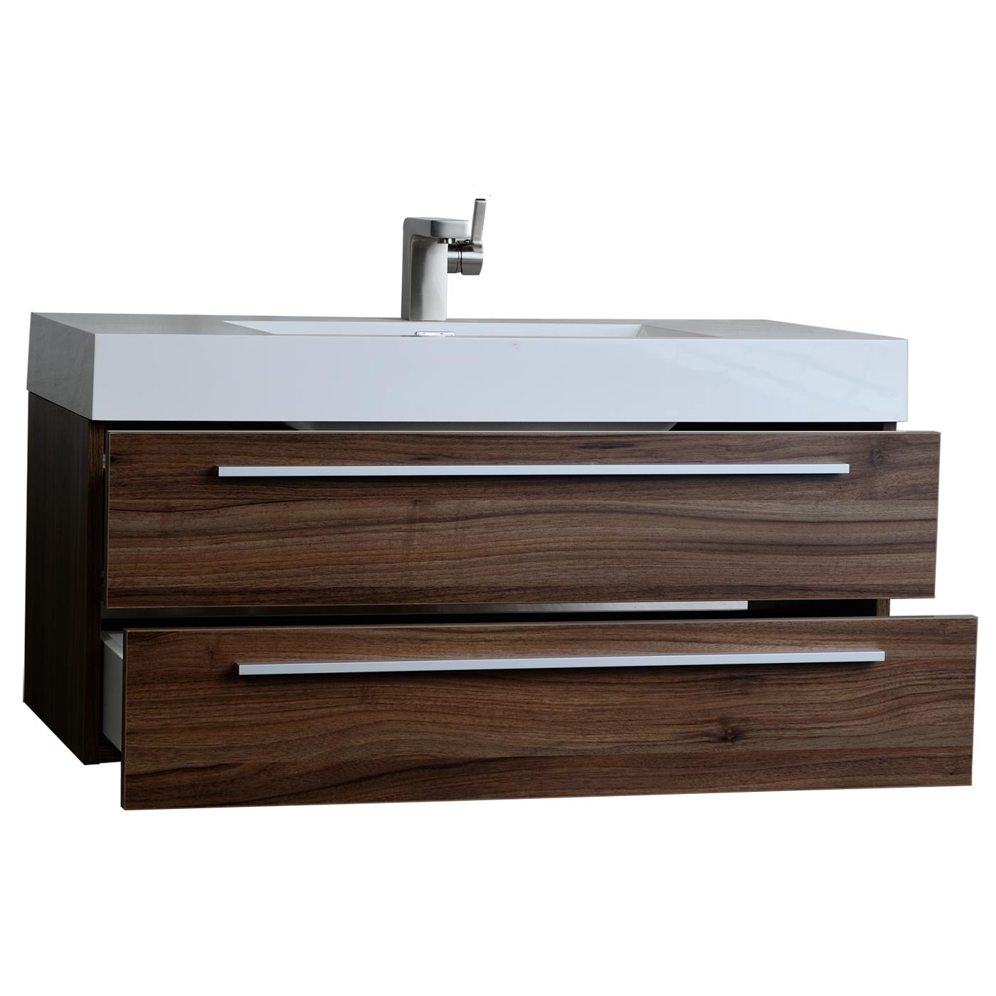 Buy Inch Contemporary Bathroom Vanity Walnut Tn