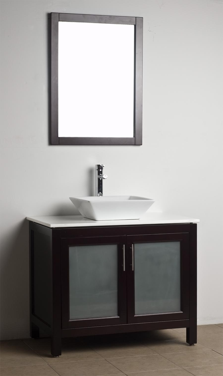 Bathroom vanity solid wood espresso wh 0908 5 for Bathroom vanities