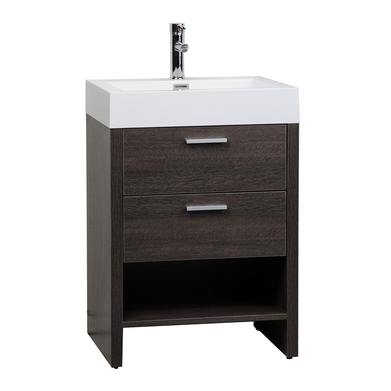 Buy mula 23 5 modern bathroom vanity oak rs l600 ao on for Oak bathroom vanity
