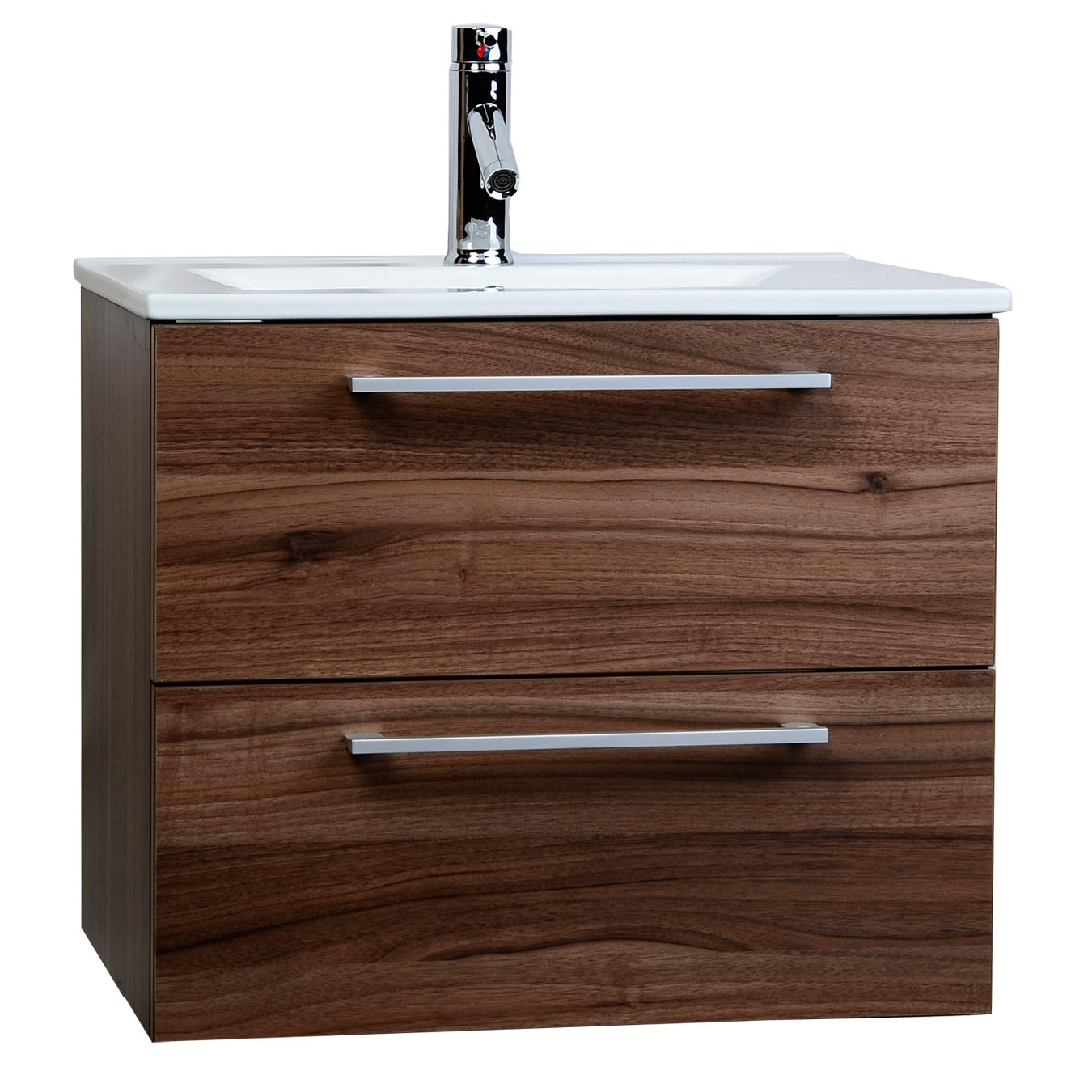 caen 24 wall mounted single bathroom vanity set in walnut optional
