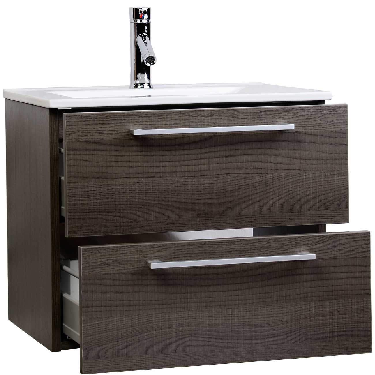 "European Bathroom Vanities european styled caen 23.5"" single bathroom vanity set in oak rs"
