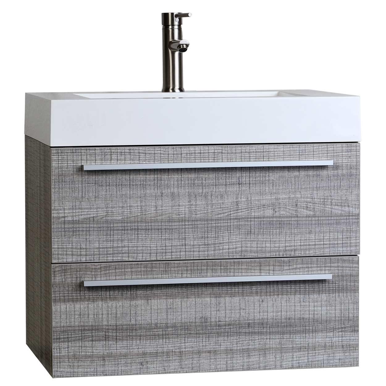 buy 26 75 inch single bathroom vanity set in ash grey tn