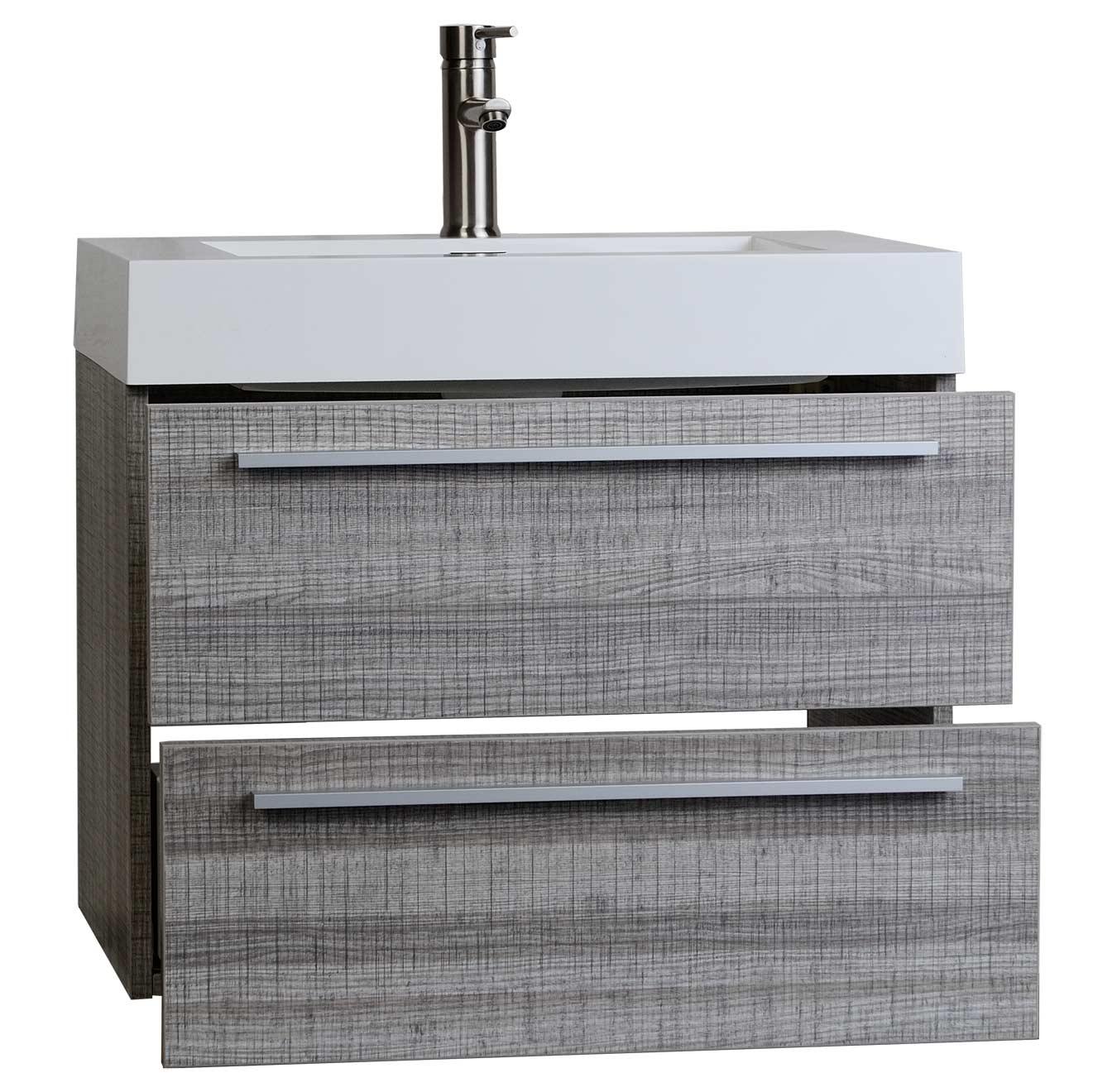 Bathroom medicine cabinets with mirrors - Buy 26 75 Inch Single Bathroom Vanity Set In Ash Grey Tn