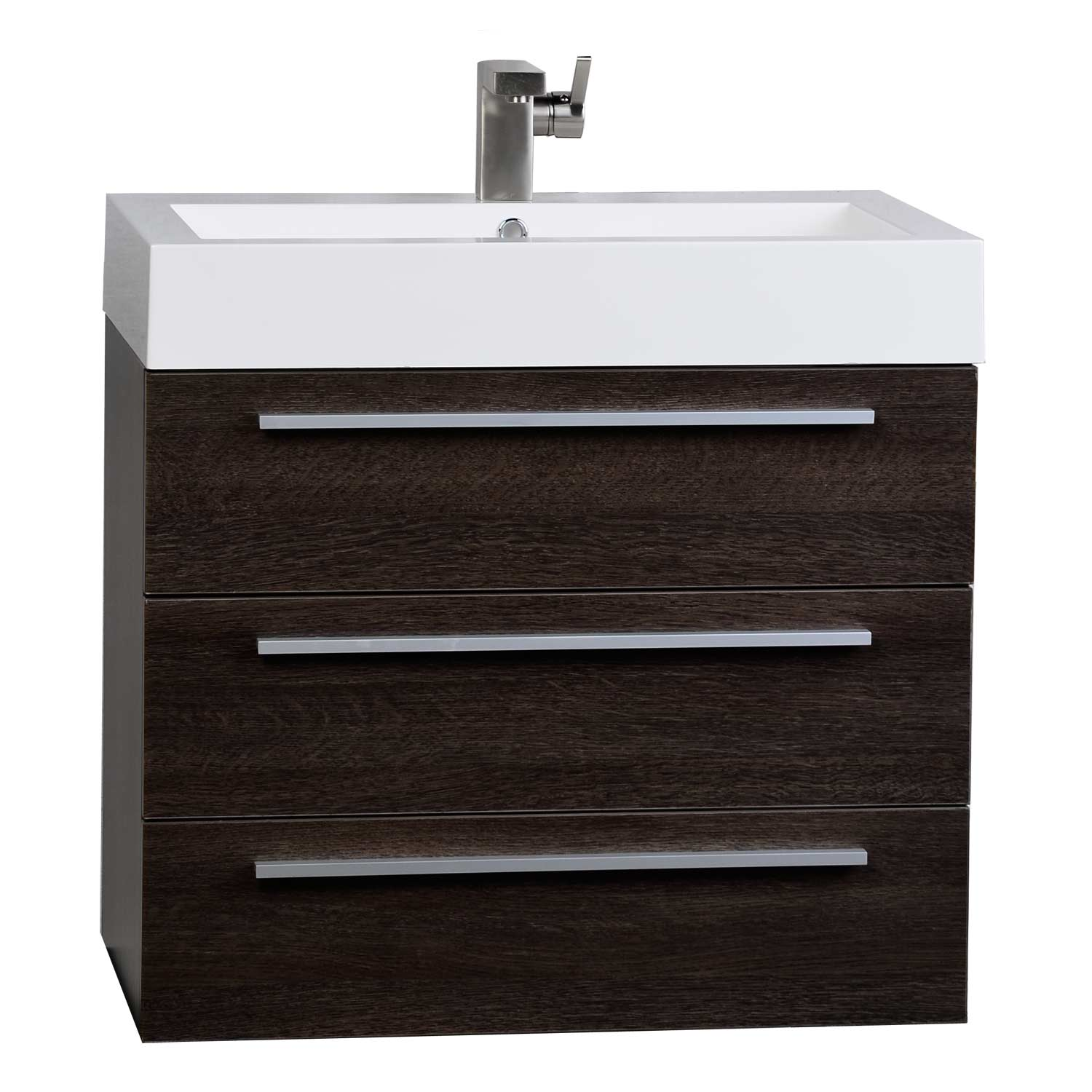 Modern 29 5 Inch Wall Mounted Single Bathroom Vanity Set In Alamo Oak Optional Mirror Rs R750 Ao