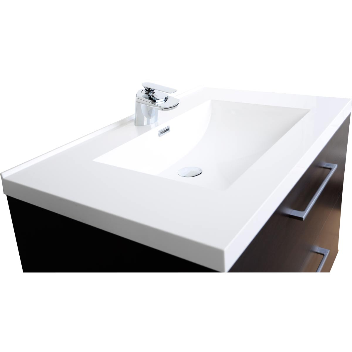 33 5 Wall Mount Contemporary Bathroom Vanity Set Espresso Tn Ta860 Wg