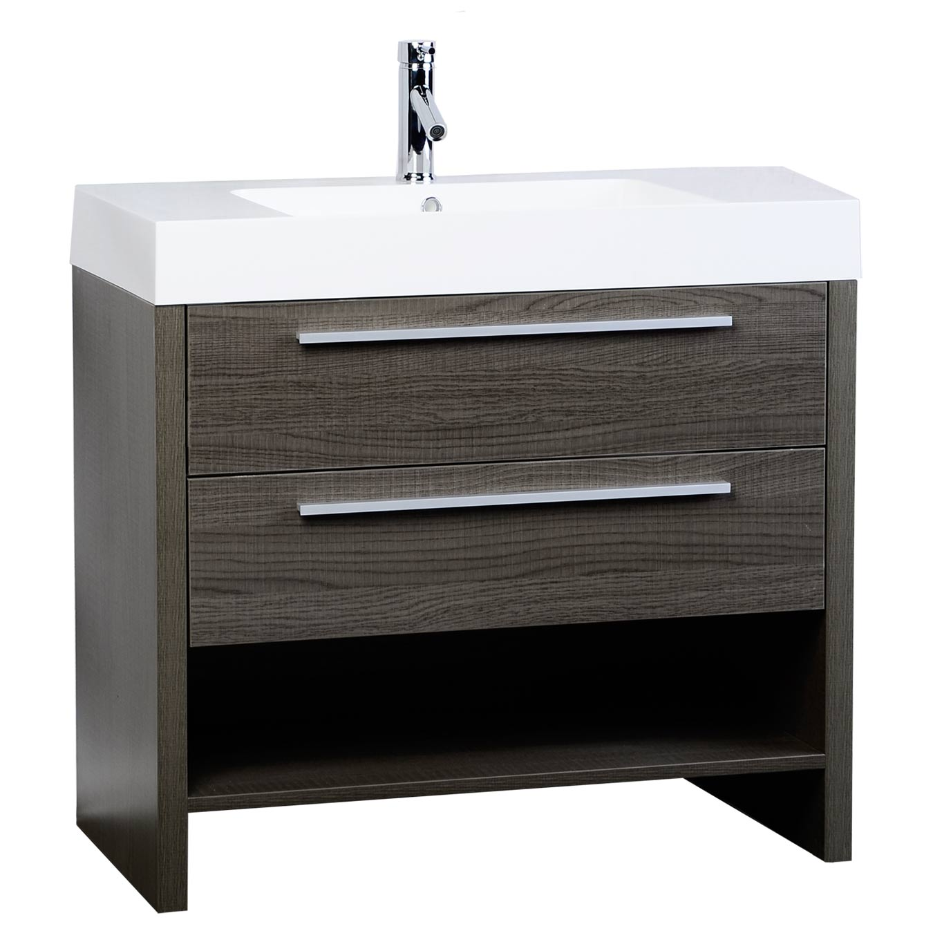 Contemporary bathroom vanities 36 inch - Mula 35 5 Modern Bathroom Vanity Oak Rs L900 Oak